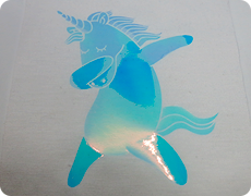 幻彩膜轉印<br /> Fancy Pearl Blue-pink Color Foil Heat Transfer